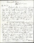 Richard Baxter Foster Letter to his wife Sept 3 1865