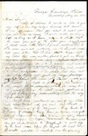 Richard Baxter Foster Letter to his wife May 24, 1865
