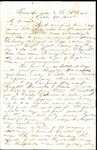 Richard Baxter Foster Letter to his wife October 17 1865 by Richard Baxter Foster