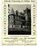 1933 Lincoln University Homecoming Brochure