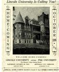 1933 Lincoln University Homecoming Brochure by Lincoln University, Jefferson City Missouri