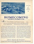 1940 Lincoln University Homecoming Brochure