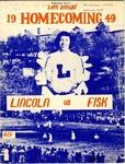 1949 Lincoln University Homecoming Brochure by Lincoln University, Jefferson City Missouri
