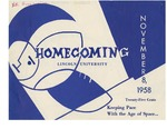 1958 Lincoln University Homecoming Brochure