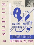 1955 Lincoln University Homecoming Brochure