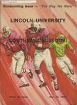 1975 Lincoln University Homecoming Brochure by Lincoln University, Jefferson City Missouri