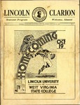 1935 Lincoln University Homecoming Brochure