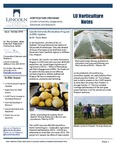 LU Horticulture Notes October 2018