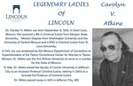 Legendary Ladies of Lincoln: Caroyln V. Atkins by Mark Schleer and Ithaca Bryant