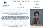 Legendary Ladies of Lincoln: Faye Tull Carter by Mark Schleer and Ithaca Bryant