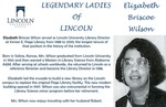 Legendary Ladies of Lincoln: Elizabeth Briscoe Wilson by Mark Schleer and Ithaca Bryant