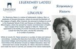 Legendary Ladies of Lincoln: Rosemary Hearn