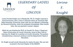 Legendary Ladies of Lincoln: Lorine F. Knight by Mark Schleer and Ithaca Bryant
