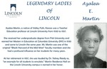Legendary Ladies of Lincoln: Azalea E. Martin by Mark Schleer and Ithaca Bryant