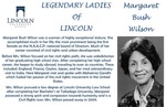 Legendary Ladies of Lincoln: Margaret Bush Wilson by Mark Schleer and Ithaca Bryant
