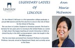 Legendary Ladies of Lincoln: Ann Marie McSwain by Mark Schleer and Ithaca Bryant