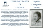 Legendary Ladies of Lincoln: Myrtle Livingston Smith by Mark Schleer and Ithaca Bryant