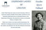 Legendary Ladies of Lincoln: Ouida Spyre Tolbert