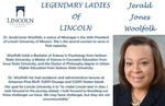 Legendary Ladies of Lincoln: Jerald Jones Woolfolk