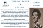 Legendary Ladies of Lincoln: Althea Gibson