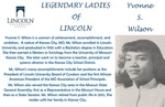 Legendary Ladies of Lincoln: Yvonne S. Wilson