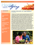 Healthy Aging Newsletter Autumn 2012 by Paula J. Carter Center on Minority Health and Aging, Lincoln University Cooperative Extension