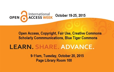 International Open Access Week 2015