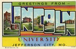 Postcard: Greeting from Lincoln University by Curt Teich & Co.